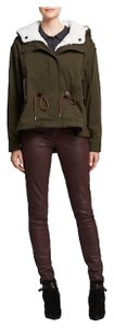 Burberry Women's Shearling Military Olive Jacket