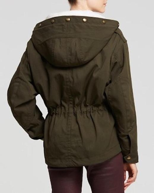 Burberry Women's Shearling Military Olive Jacket Image 2
