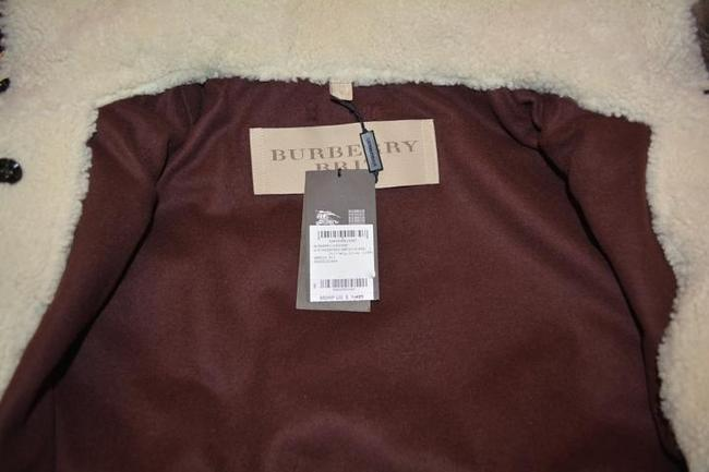 Burberry Women's Shearling Military Olive Jacket Image 3