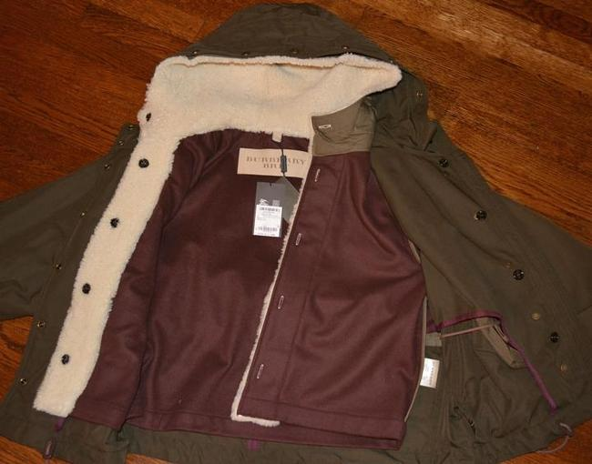 Burberry Women's Shearling Military Olive Jacket Image 4
