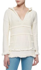 Tory Burch Hooded Fringe Sweater