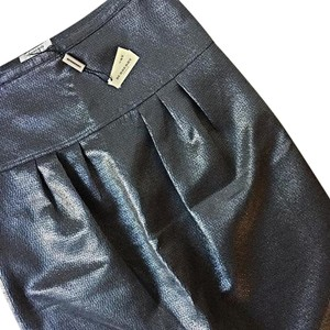 Burberry London Skirt Metallic Gray