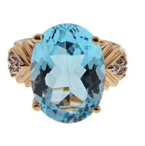 Other BEST PRICE WOW - 14k gold 13 cts Topaz with diamond ring
