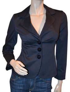 Cynthia Steffe Lined New Pinstripes Navy Blazer
