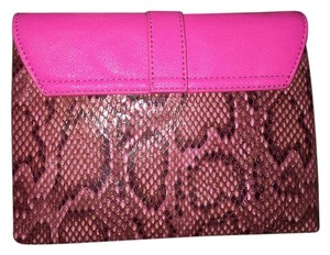 Pink with patron print Clutch