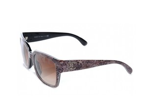 Chanel NEW Chanel Metal Logo Sunglasses CH 5220 c. 13093B in Gray Tweed