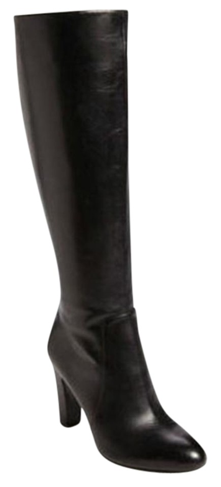 0ed06a34d4 Via Spiga Black Ailey Leather Knee High Boots Booties Size US 10 ...