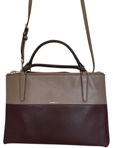 Coach Shoulder Tote in Oxblood and Grey
