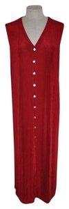 Red Maxi Dress by Chico's Travelers Slinky Resort Travel