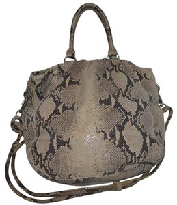 Adrienne Vittadini Python Embossed Leather Strap Shoulder Bag