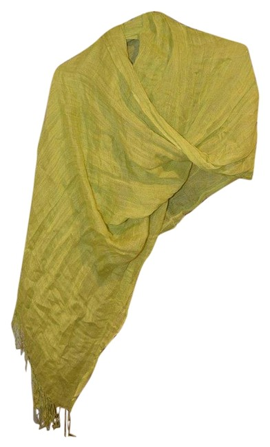 Item - Lime Green Linen Scarf/Wrap