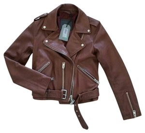AllSaints Leather Moto Biker Sahara Leather Jacket
