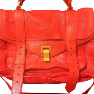 Proenza Schouler Leather Proenza Ps1 Satchel in Red