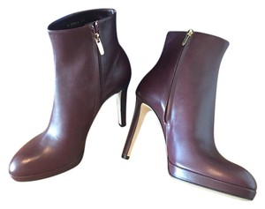 Sergio Rossi BURGUNDY Boots