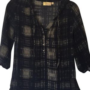 Vera Wang Top Plaid, black and green