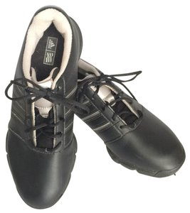 adidas Black with silver stripes Athletic