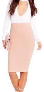 Missguided Skirt Blush Nude