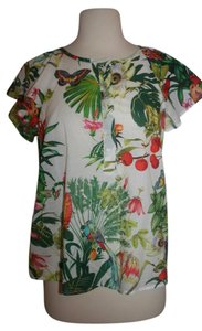 J.Crew Top Tropical Multi