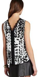 BCBGMAXAZRIA Top Black and white multi color