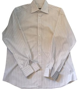 Gucci Button Down Shirt White striped