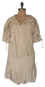 Anthropologie short dress BEIGE Shirt Hazel on Tradesy