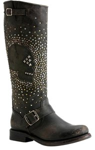 Frye Stud Leather Black Boots