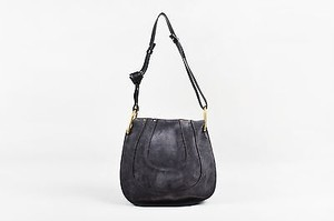 Chloé Chloe Charcoal Suede Leather Chain Strap Hayley Hobo Bag