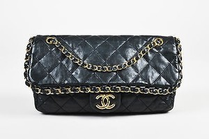 Chanel Lambskin Leather Gold Tone Chain Me Classic Shoulder Bag