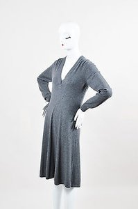 Herms short dress Gray Hermes Heather Cashmere on Tradesy