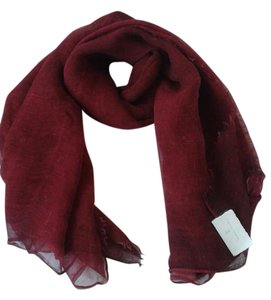 Brunello Cucinelli BRUNELLO CUCINELLI Silk Scarf Wrap- Rust Red