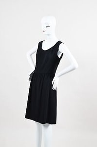 Chanel Boutique Wool Crepe Scoop Neck Sleeveless Dress