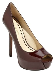 Enzo Angiolini Dark Red Platforms
