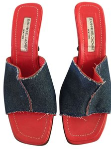 Jean-Michel Cazabat Blue Denim Mules