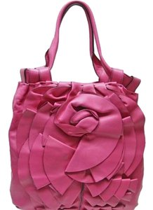Valentino Flower Tote in Pink