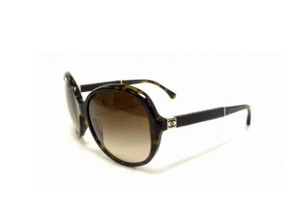 Chanel NEW Chanel Round Quilted Sunglasses CH 5232Q c. 7143B in Tortoise