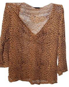 The Limited Sheer Sheer Sheer Top Leopard Print