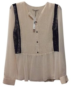 Alice + Olivia Top Cream