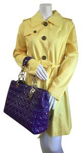Dior Christian Canage Leather Quilted Tote in Purple