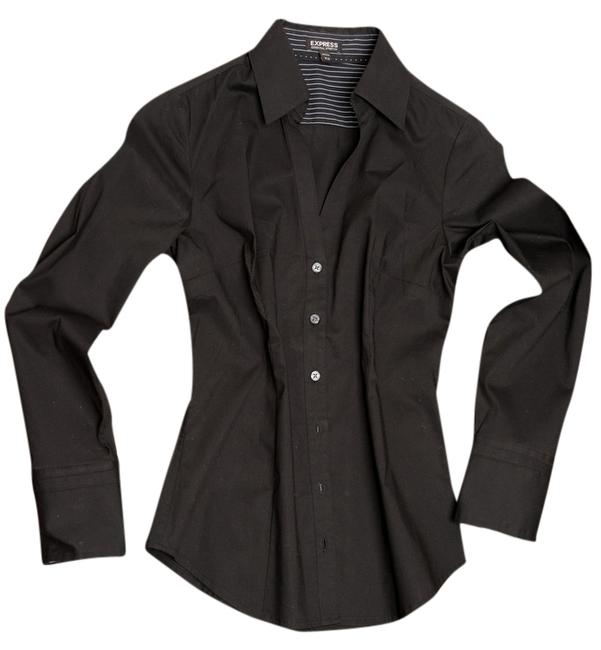 Express Button Down Shirt Black