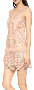 Twelfth St. by Cynthia Vincent Lace Drop Waist Scalloped Shift Shift Dress