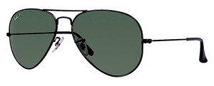 Ray-Ban RB 3025 002/58 LARGE (62mm) - (color) BLACK AVIATOR - POLARIZED LENS - Free 3 Day Shipping