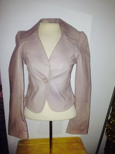 Arden B. Beige Leather Jacket