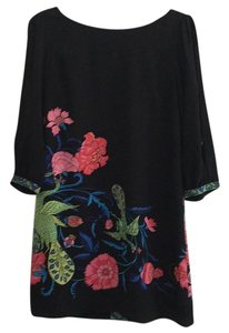 Tibi Silk Floral Flowy Sheath Dress