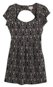 Anthropologie Pockets Keyhole Damask Dress