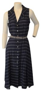 Jones New York Ny Striped Belted Size 8 Dress
