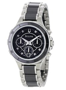 Bulova Bulova Women's 98P126 Substantial Ceramic and Stainless-Steel Watch