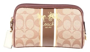 Coach Brown Signature Wristlet