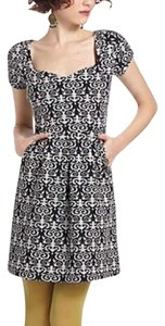 Anthropologie short dress Black motif on Tradesy