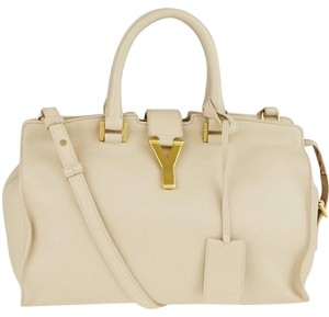 Saint Laurent Ysl Cabas Y Ligne Tote in Beige