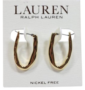 Ralph Lauren New Ralph Lauren Gold Tone Oval Hoop Earrings $36
